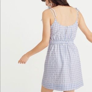 Madewell Gingham Tie-strap tank dress size 2 NWT